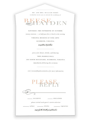 Bacall All-in-One Wedding Invitations