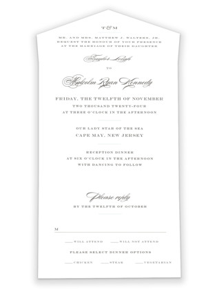 Charming Go Lightly All-in-One Wedding Invitations