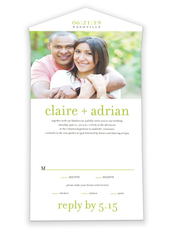 Float + Celebrate All-in-One Wedding Invitations