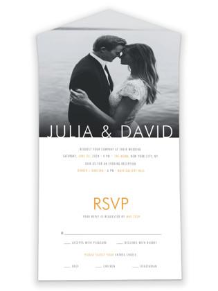 Minimalist Display All-in-One Wedding Invitations