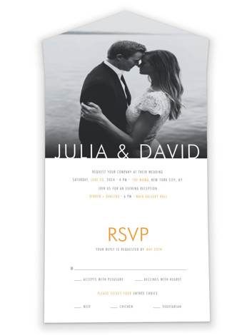 Minimalist Display All-in-One Wedding Invitations