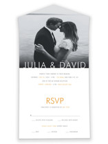 Minimalist Display All-in-One Wedding Invitations By Coco and Ellie Design