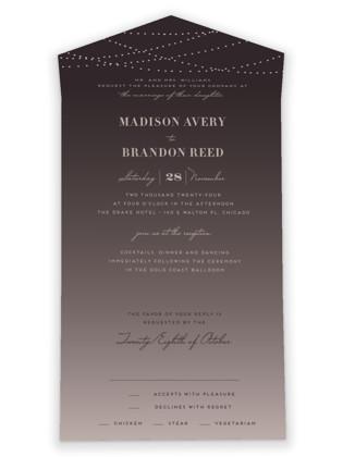 Lavish All-in-One Wedding Invitations