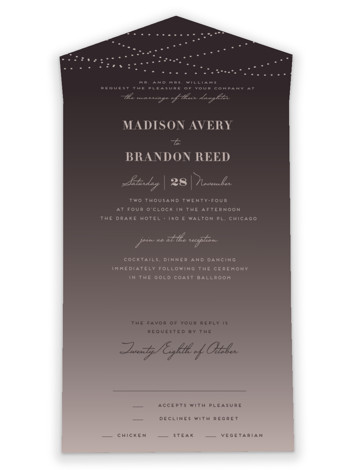 Lavish All-in-One Wedding Invitations