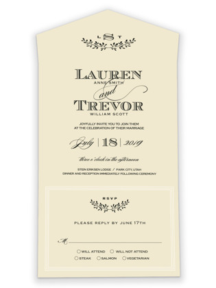 Aspen Ridge All-in-One Wedding Invitations