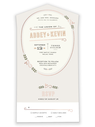 The Union All-in-One Wedding Invitations
