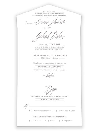 Opulence All-in-One Wedding Invitations