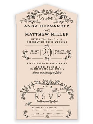 Wedding Bouquet All-in-One Wedding Invitations