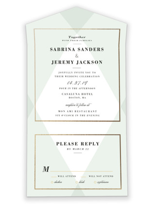 Creme Brulee All-in-One Wedding Invitations