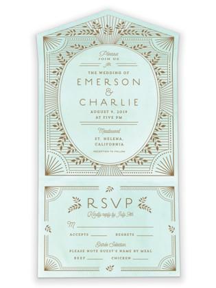 Elegant Lines All-in-One Wedding Invitations
