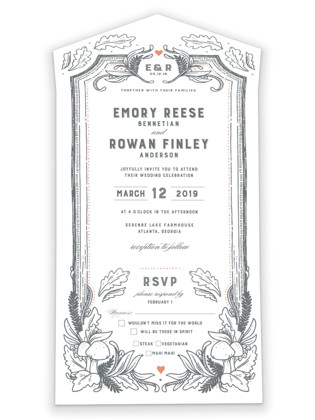 Fairytale Frame All-in-One Wedding Invitations