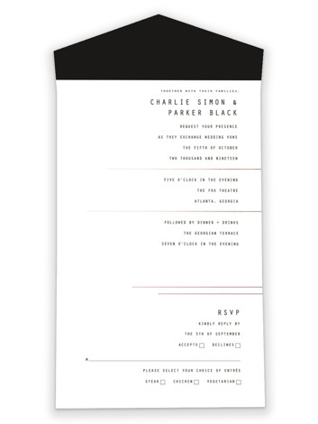 BOLD AS LOVE All-in-One Wedding Invitations