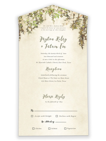 English Countryside All-in-One Wedding Invitations