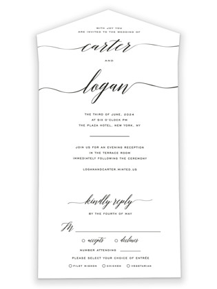 Someone Like You All-in-One Wedding Invitations