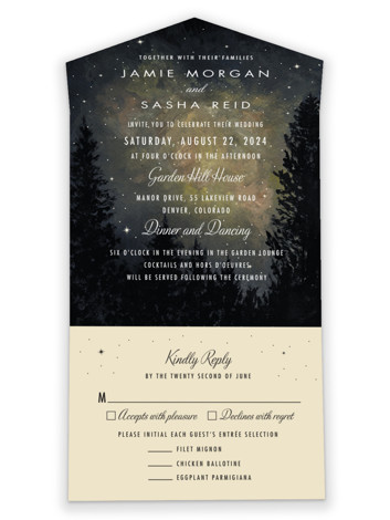 Starry, Starry Night All-in-One Wedding Invitations