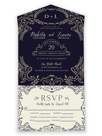 Wedding Enchantment All-in-One Wedding Invitations
