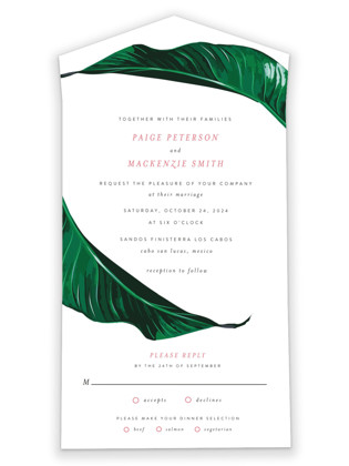Mod Palm All-in-One Wedding Invitations