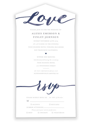 Love All-in-One Wedding Invitations