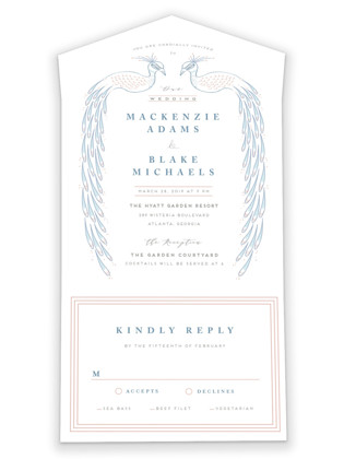 cicogne All-in-One Wedding Invitations