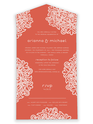 Love Blossoms All-in-One Wedding Invitations