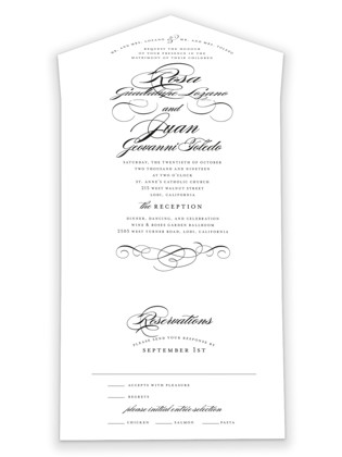 Formal Ink All-in-One Wedding Invitations