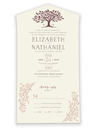 Enchanted All-in-One Wedding Invitations