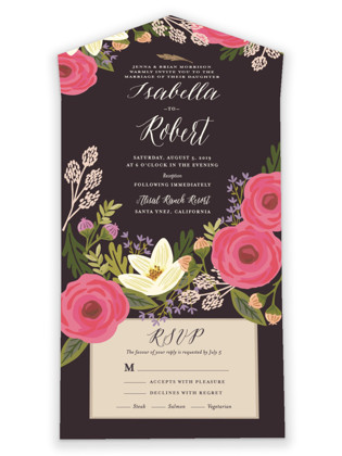 Rhapsody All-in-One Wedding Invitations