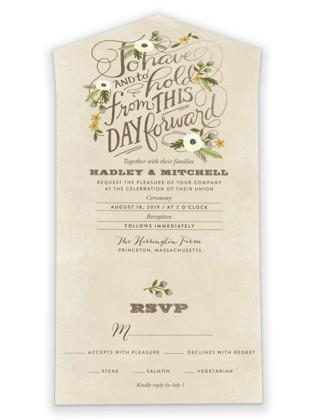 Boheme All-in-One Wedding Invitations