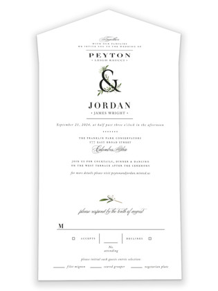 Adorned Ampersand All-in-One Wedding Invitations