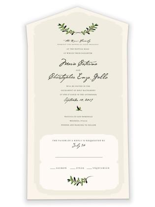 Italiano All-in-One Wedding Invitations