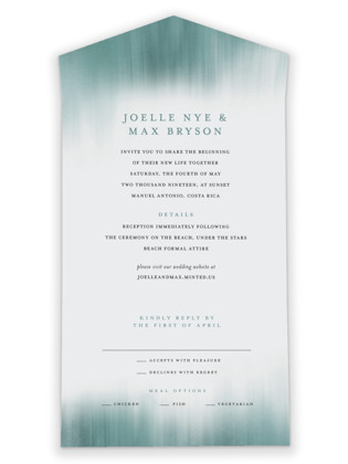 Modern Beach All-in-One Wedding Invitations