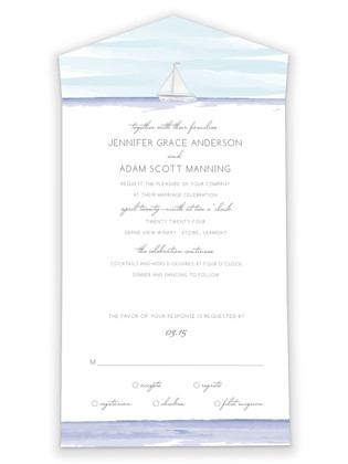 Set Sail All-in-One Wedding Invitations