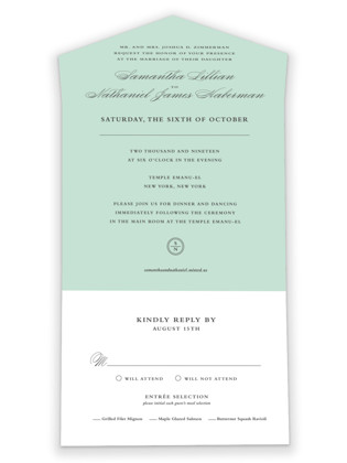 Notable All-in-One Wedding Invitations