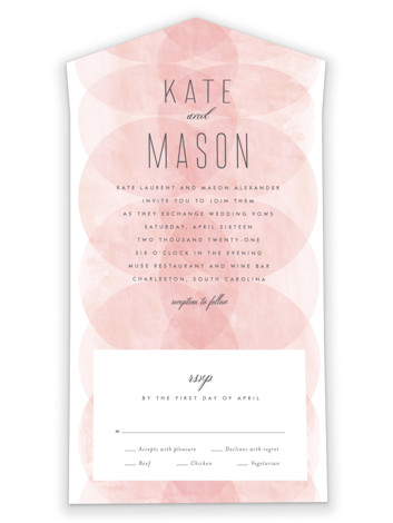 Bliss All-in-One Wedding Invitations