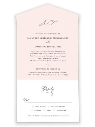 Estate All-in-One Wedding Invitations