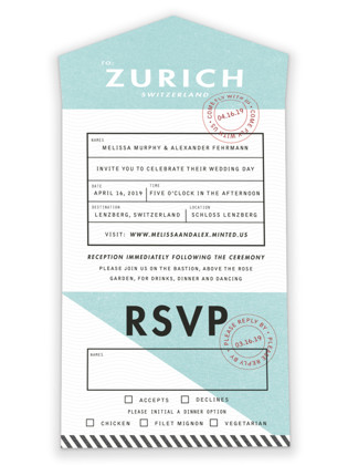 Come Fly with Us All-in-One Wedding Invitations
