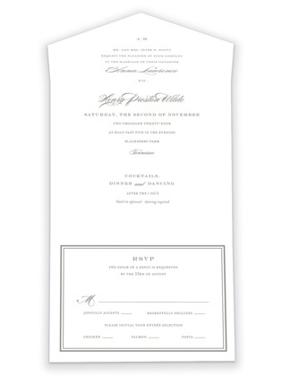 Field All-in-One Wedding Invitations
