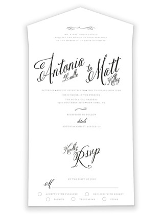 Traditional Royalty All-in-One Wedding Invitations