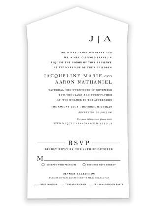 Sophistotype All-in-One Wedding Invitations