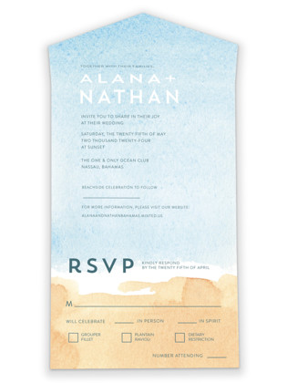 Painted Sea All-in-One Wedding Invitations