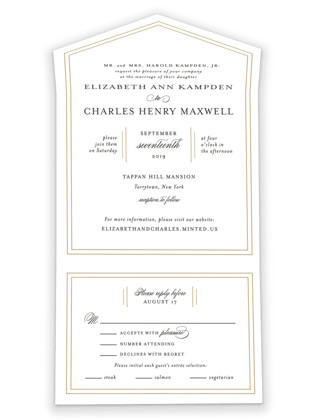Classy Type All-in-One Wedding Invitations