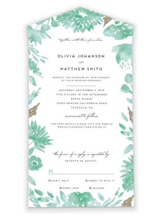 Watercolor Delight All-in-One Wedding Invitations