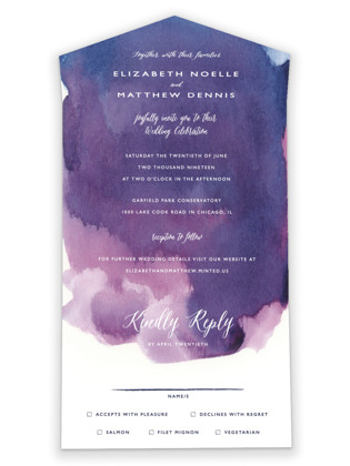 Mulberry All-in-One Wedding Invitations