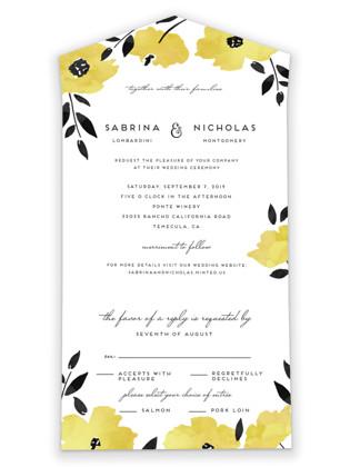 Dark Romance All-in-One Wedding Invitations