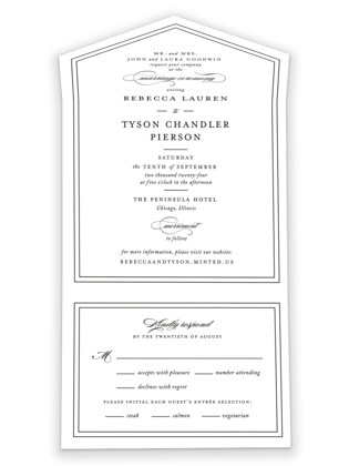 Eloquence All-in-One Wedding Invitations