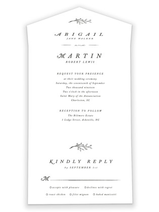 Storybook Romance All-in-One Wedding Invitations