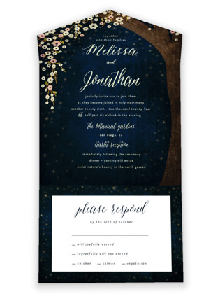 Outside All-in-One Wedding Invitations