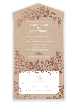 Miss Monica All-in-One Wedding Invitations