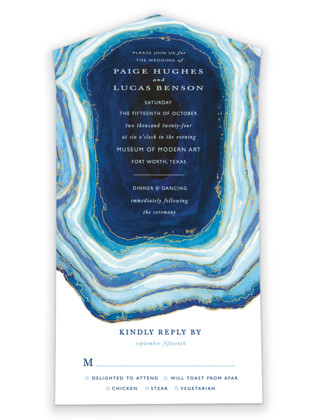 Gilt Agate All-in-One Wedding Invitations