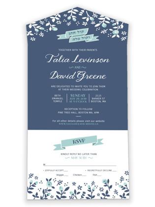 Joy & Happines All-in-One Wedding Invitations